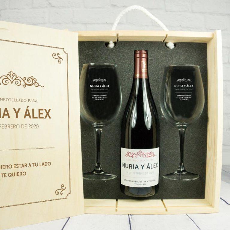 regalo originas san valentin botella vino