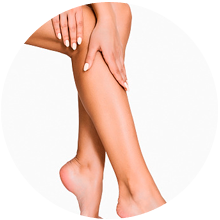 Waxing half lower leg