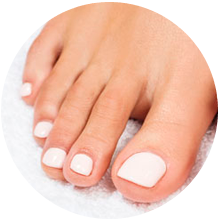 Semi-permanent pedicure